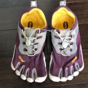 Vibram five fingers running shoes. Like new!